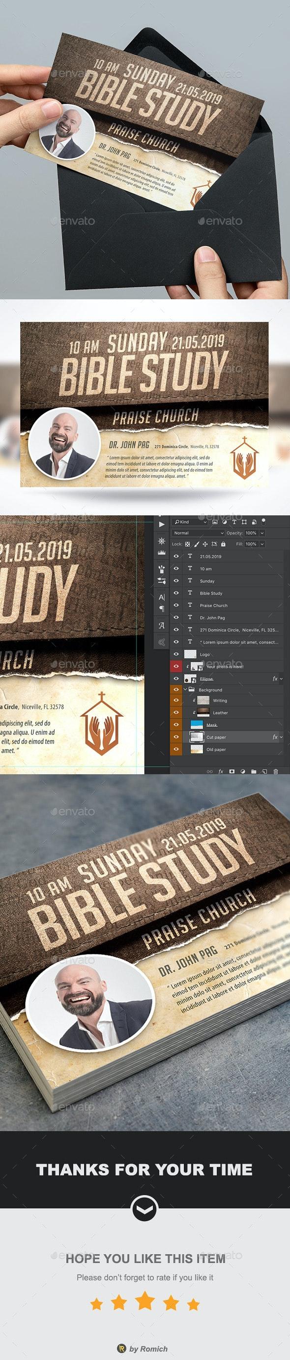 Bible Study Church Flyer - Church Flyers