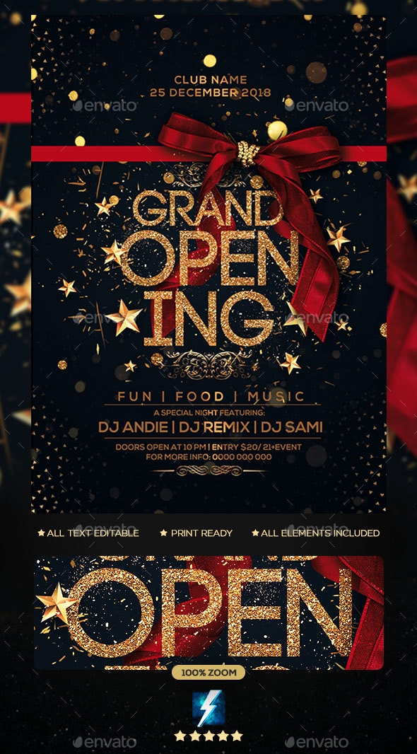 Grand Opening Flyer Flyer - Clubs & Parties Events