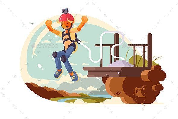 Bungee Jumping Sport - Sports/Activity Conceptual