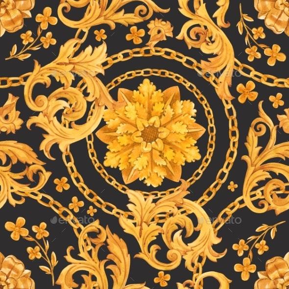 Golden Baroque Rich Luxury Pattern - Patterns Decorative