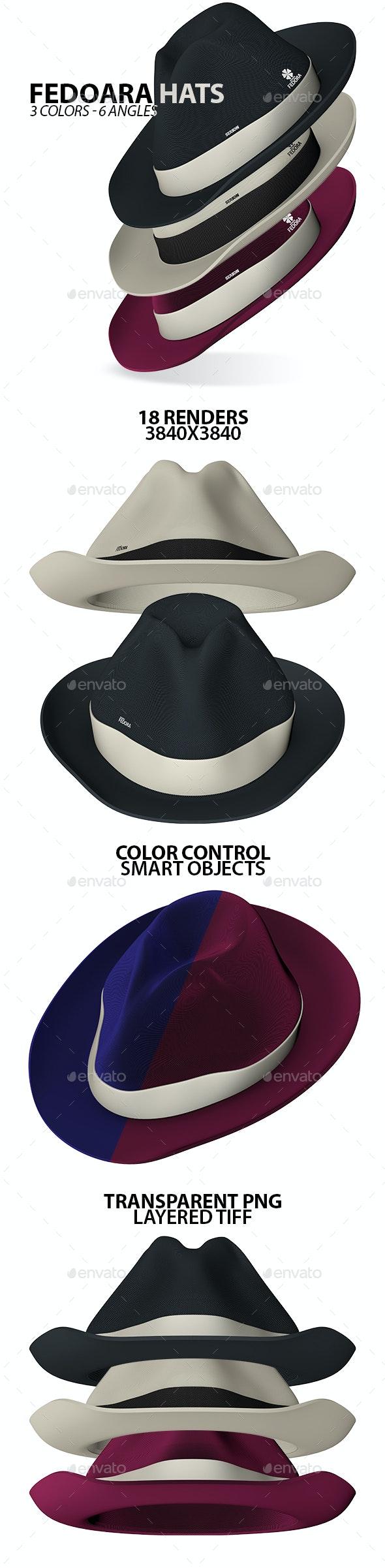 Fedora Hats - Objects 3D Renders