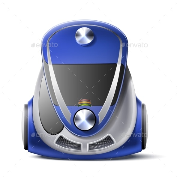Vector Realistic Green Vacuum Cleaner Body 3d Icon - Objects Vectors