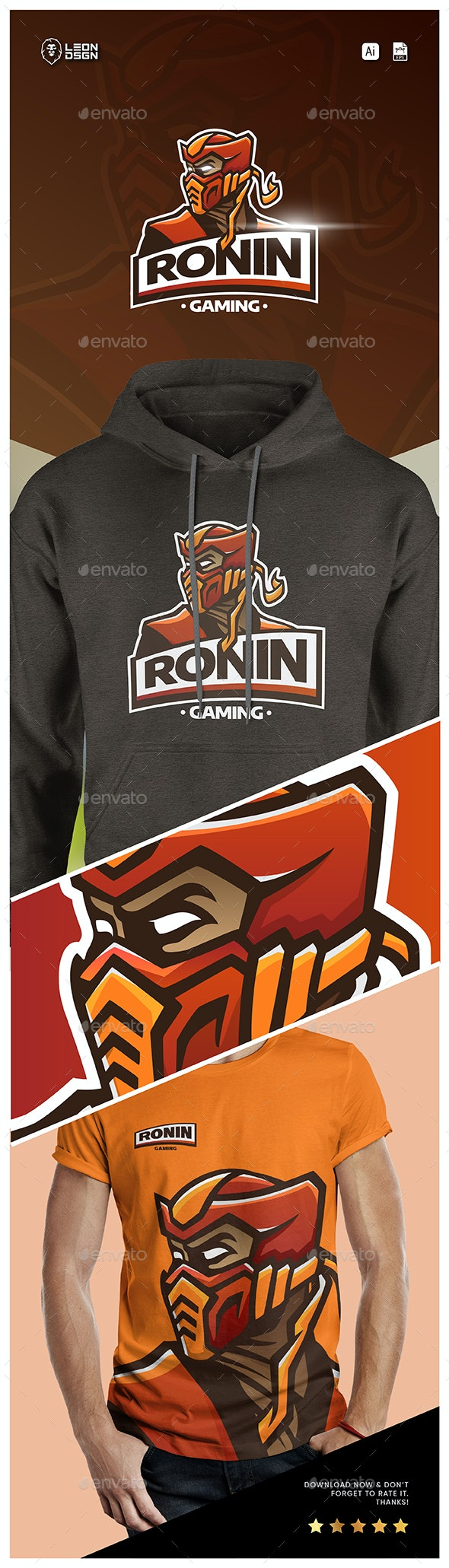 RONIN ESPORT LOGO – GAMING - Humans Logo Templates
