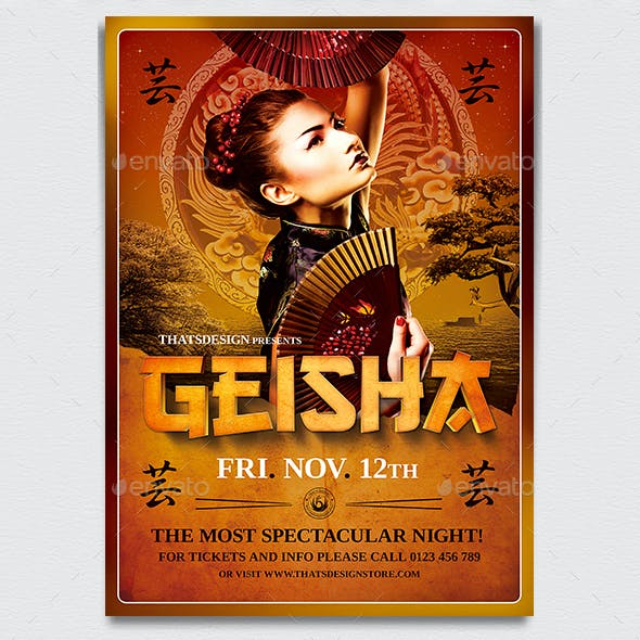 Geisha Night Flyer Template V3