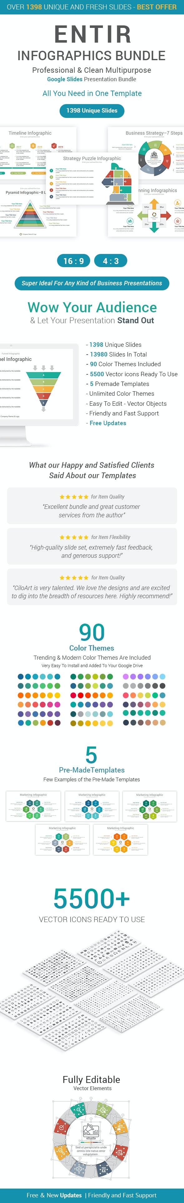 Entire Infographics Google Slides Bundle - Google Slides Presentation Templates