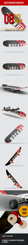 Skateboard Mockup Pack - Product Mock-Ups Graphics