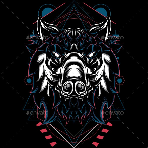 Pig Hogged Sacred Geometry by Undersacred | GraphicRiver