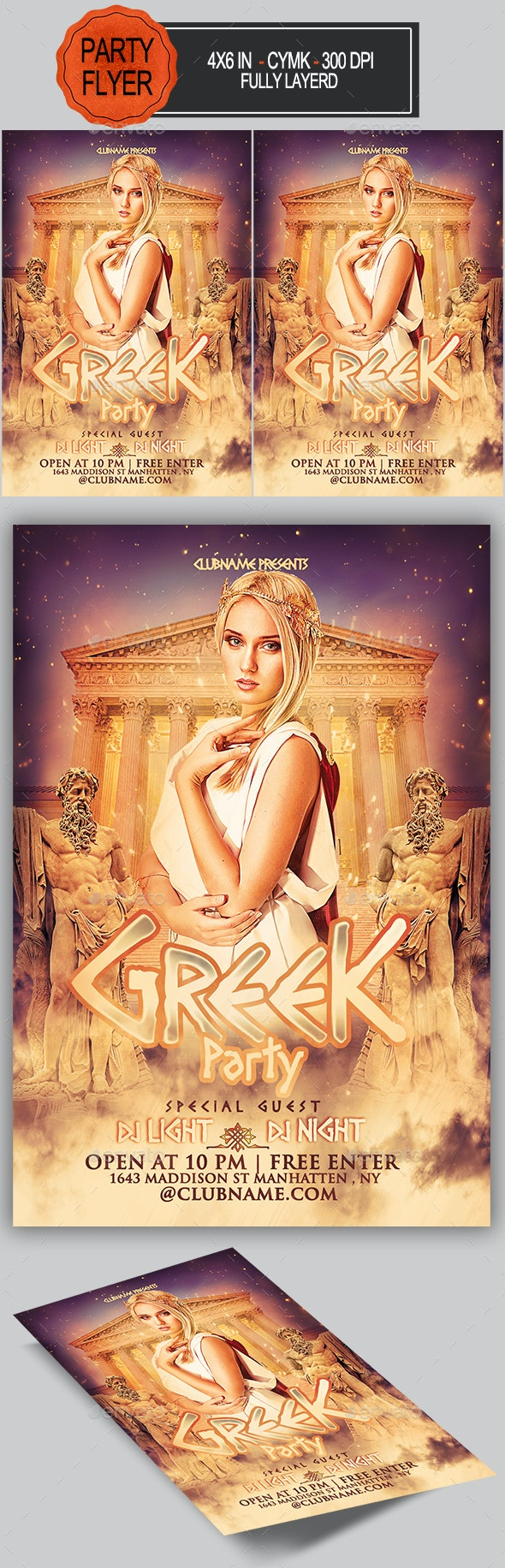 Greek Party Flyer - Clubs & Parties Events