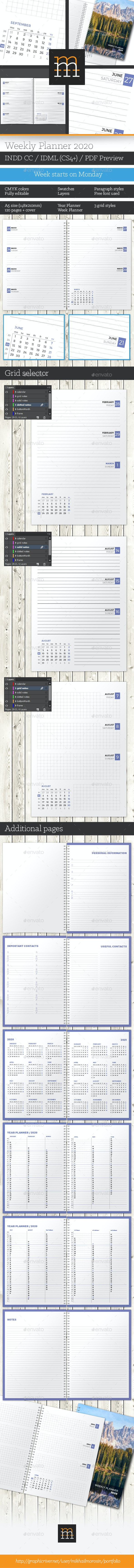 Weekly Planner 2020 - Calendars Stationery