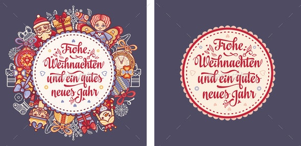 German Christmas Weihnachten Text - Miscellaneous Vectors