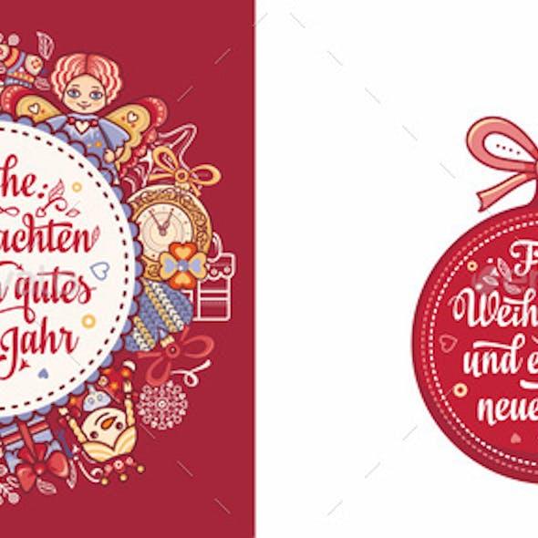 German Christmas Weihnachten Text