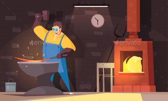 Blacksmith Background Illustration - Miscellaneous Vectors