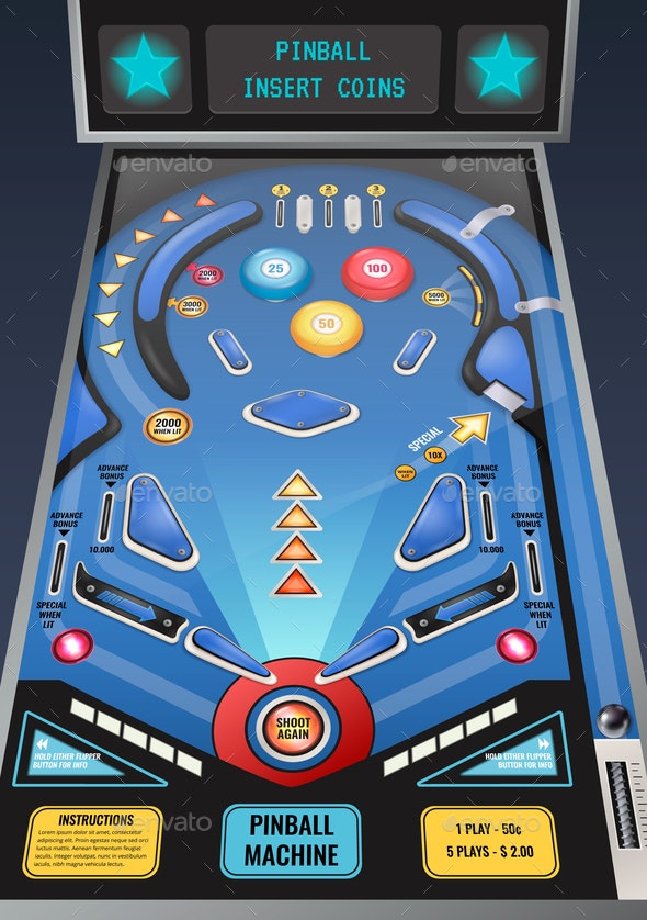 Pinball Machine Realistic Image - Miscellaneous Vectors