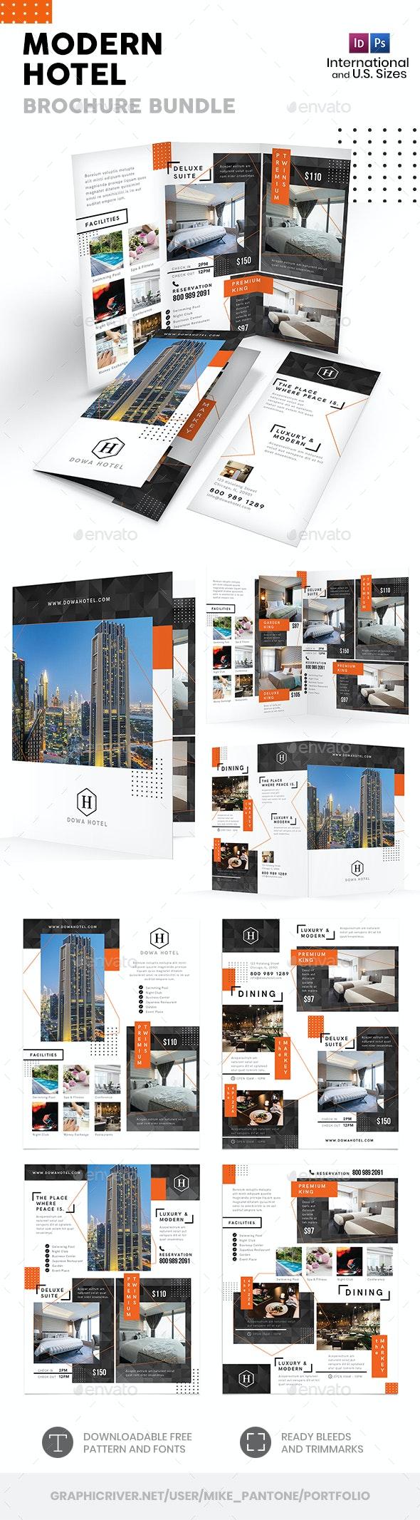 Modern Hotel Print Bundle 5 - Informational Brochures