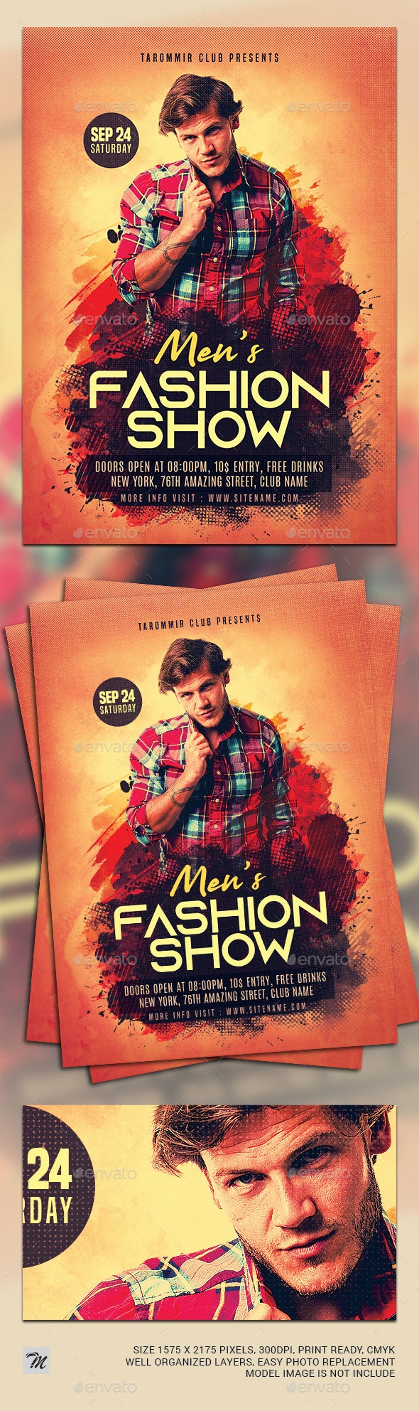 Men Fashion Flyer - Events Flyers