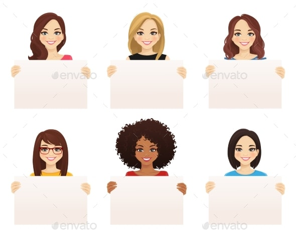 Women With Boards - People Characters