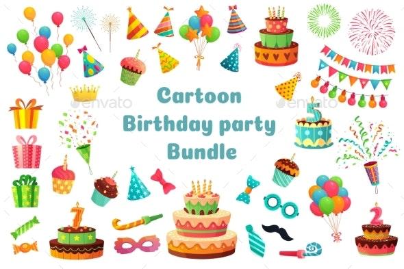 Cartoon Birthday Party Bundle - Birthdays Seasons/Holidays