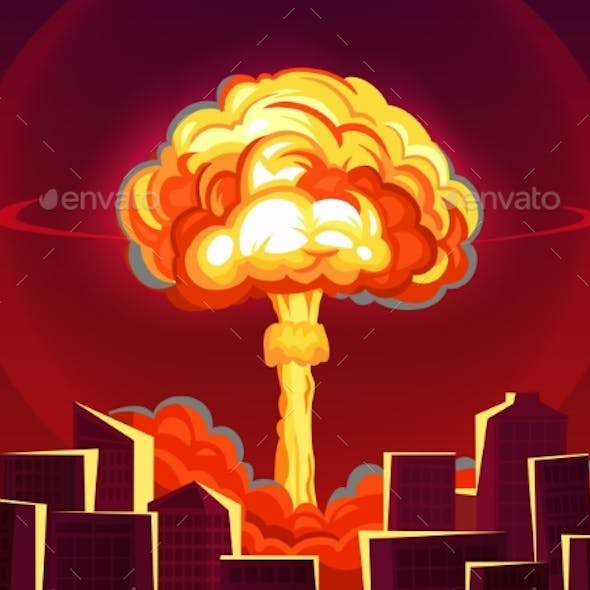 Nuclear Explosion in City Atomic Bombing