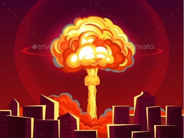 Nuclear Explosion in City Atomic Bombing - Miscellaneous Vectors