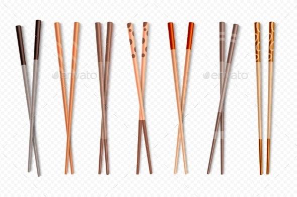 Food Chopsticks - Food Objects
