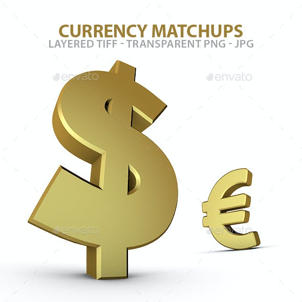 Dollar Euro and Sterling Currency Matchups