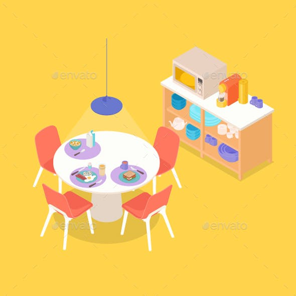 Isometric Dinning Space
