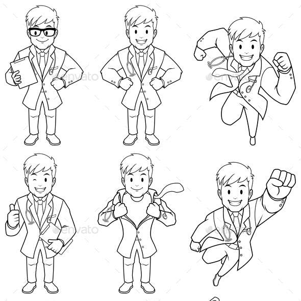 Doctor Line Art