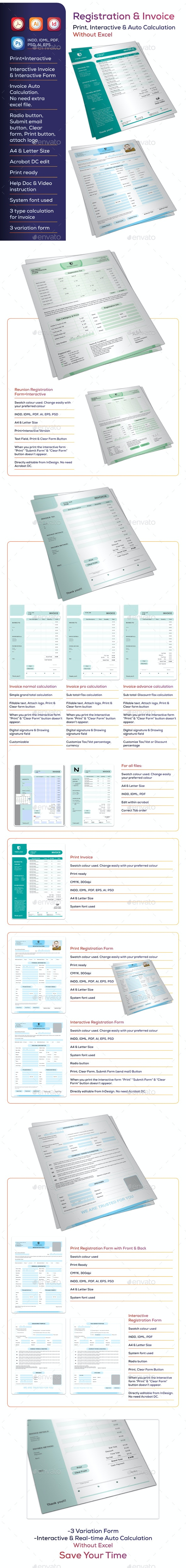 Interactive & Print Invoice and Form - Proposals & Invoices Stationery