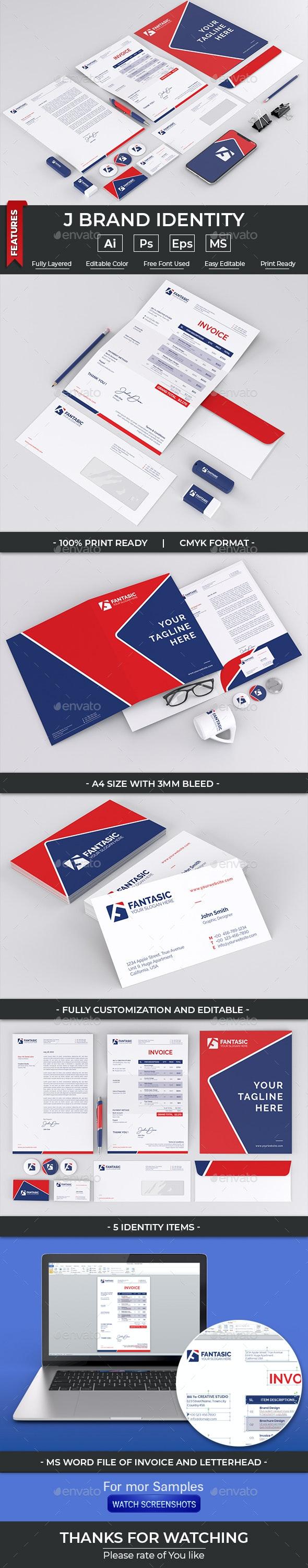 F Brand Identity - Stationery Print Templates