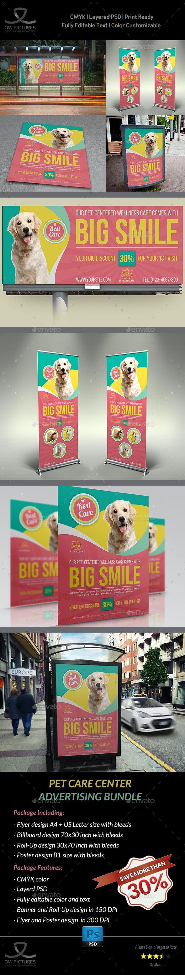 Pet Care Center Advertising Bundle Vol.2 - Signage Print Templates
