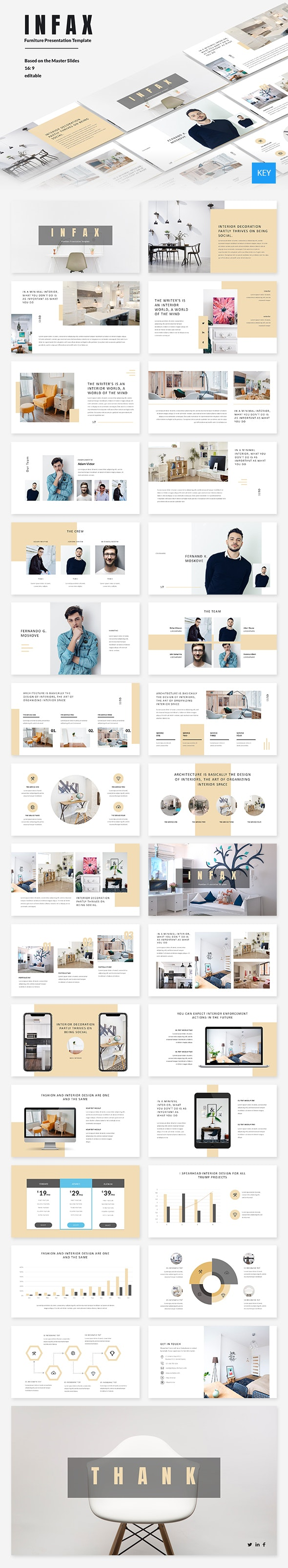 Infax - Furniture Keynote Template - Keynote Templates Presentation Templates