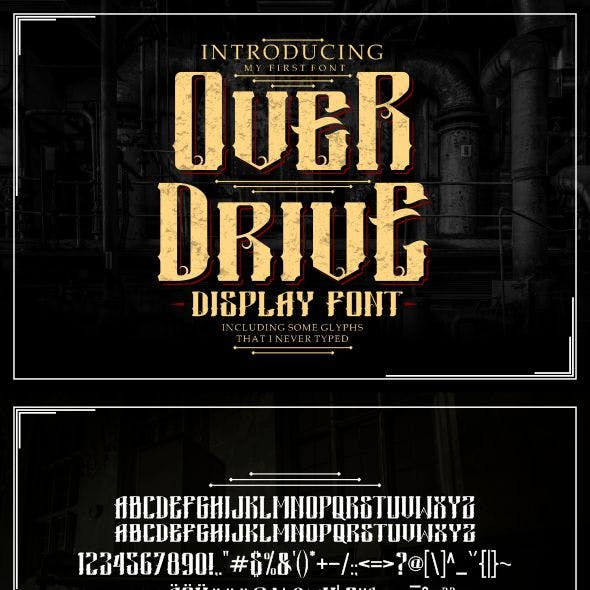 Overdrive Gothic Display Font