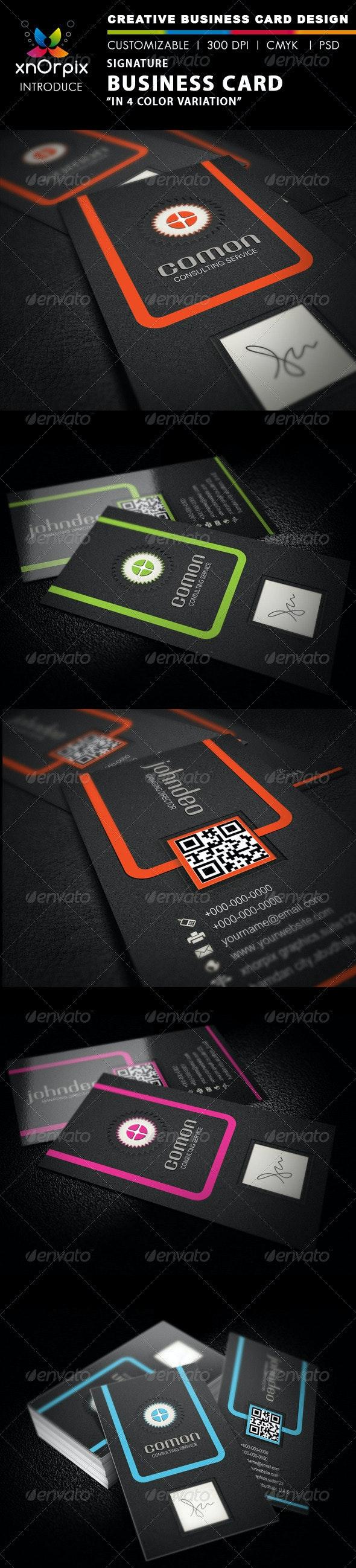 Signature Business Card - Corporate Business Cards