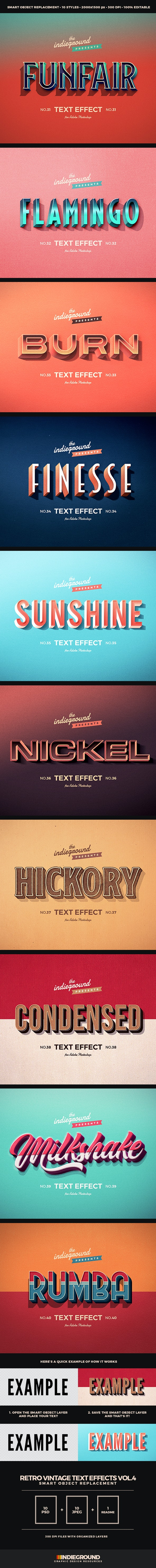 Retro Vintage Text Effects Vol. 4 - Text Effects Actions