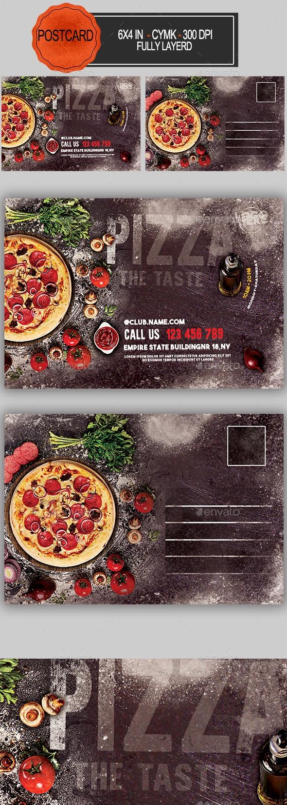 Pizza Restaurant Postcard - Cards & Invites Print Templates