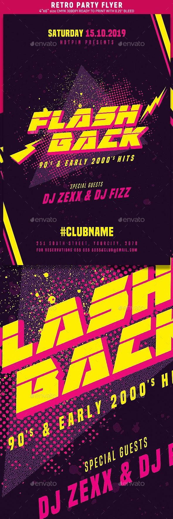 Flashback Retro Party Flyer - Events Flyers