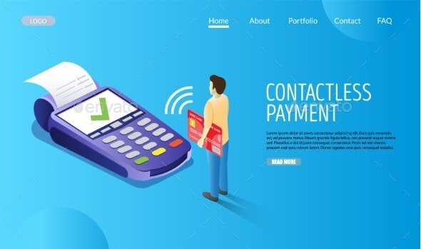Contactless Payment Vector Website Landing Page - Concepts Business
