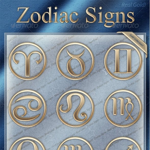 Zodiac Signs - Gold Collection