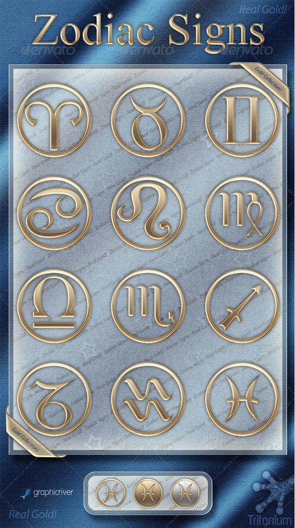 Zodiac Signs - Gold Collection - Miscellaneous Icons