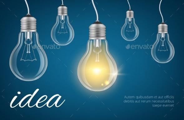 Bulbs Idea Background - Miscellaneous Vectors