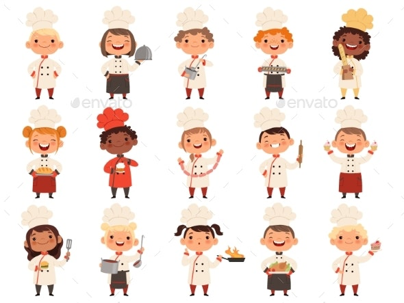 Cooking Children - People Characters
