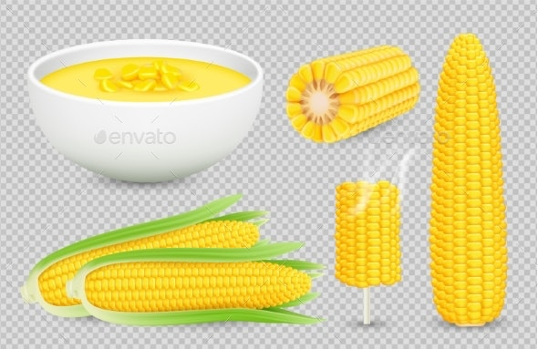 Vector Corn Collection - Food Objects