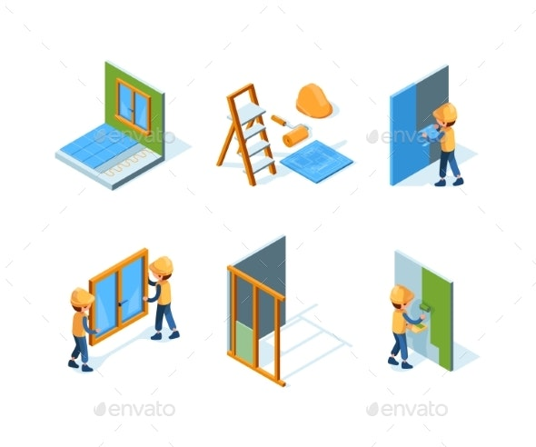 Home Repair Wall Installation Equipment Paint - People Characters