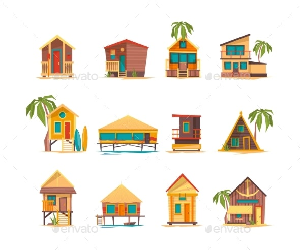 Beach Houses - Buildings Objects