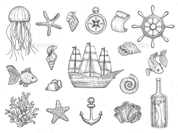Marine Symbols - Miscellaneous Vectors