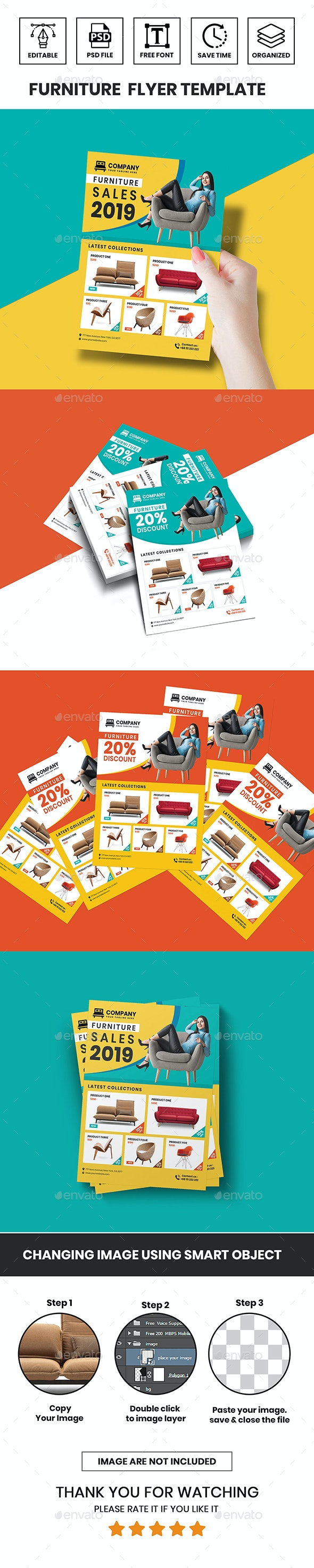 Furniture Flyer Template - Flyers Print Templates