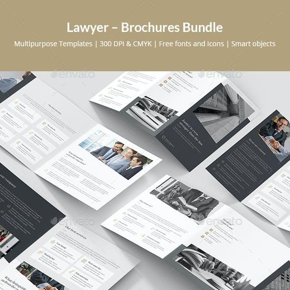 Lawyer – Brochures Bundle Print Templates 5 in 1