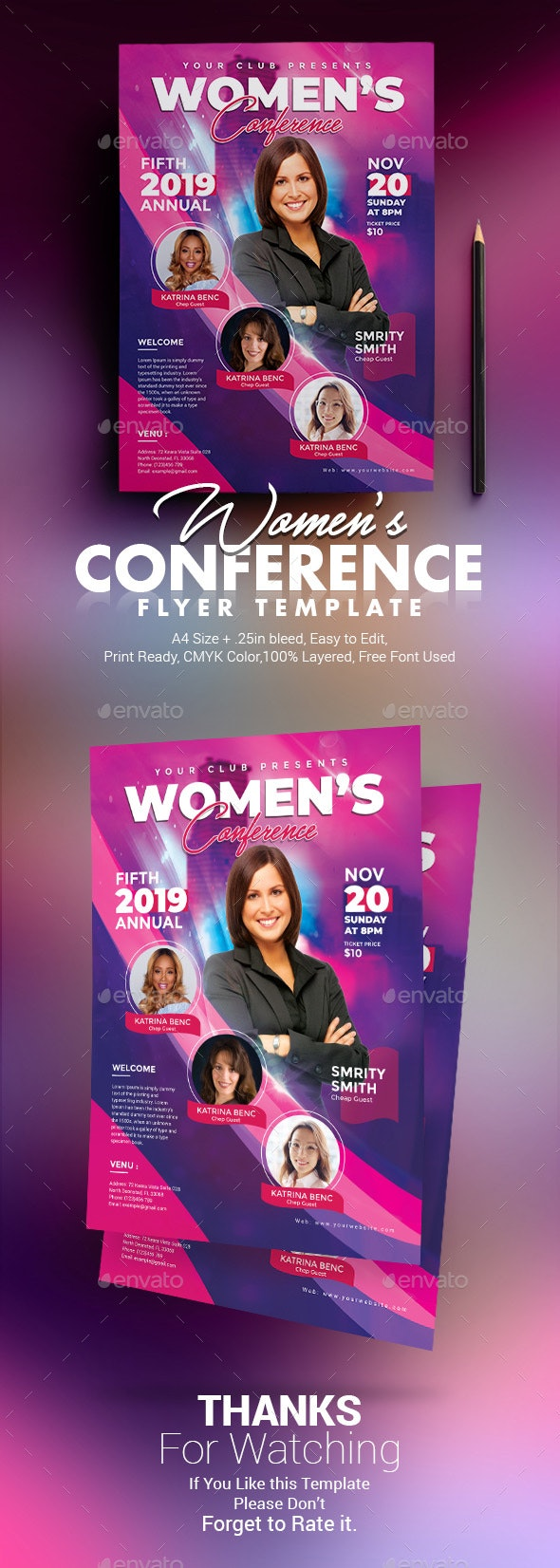Women Conference Flyer - Church Flyers