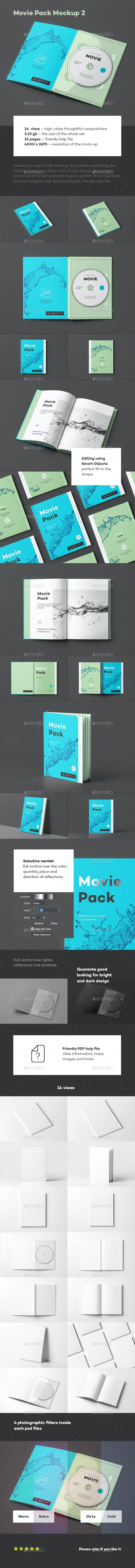 Movie Pack Mock-up 2 - Discs Packaging