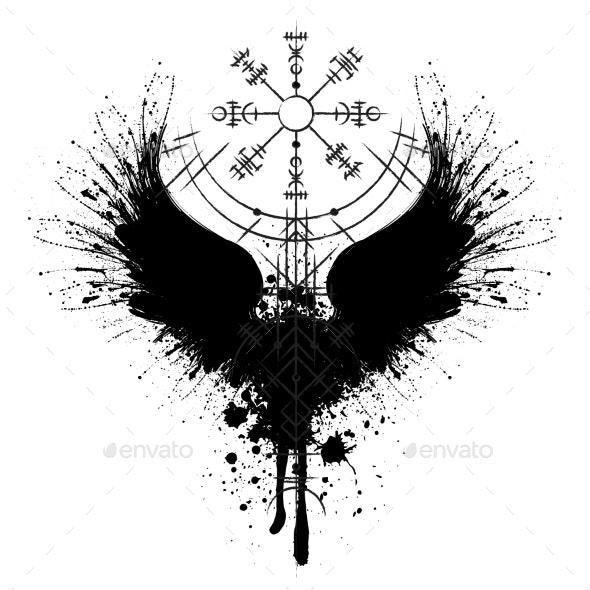 Raven Scandinavian Silhouette - Miscellaneous Vectors